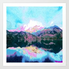 abstract landscape 1 Art Print
