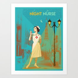 NIGHT NURSE Art Print