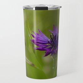 Cornflowers, One Purple, One Pink and One Blue Travel Mug