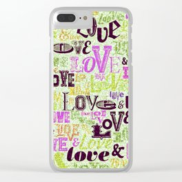 Vintage Love Words Clear iPhone Case