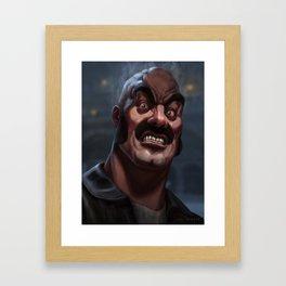 Mike Tyson Punch Out- Bald Bull Framed Art Print