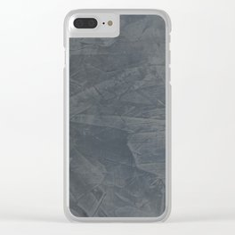 Slate Gray Stucco - Faux Finishes - Rustic Glam Clear iPhone Case