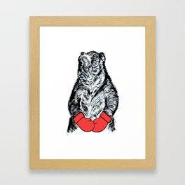 Boxing Bear Framed Art Print