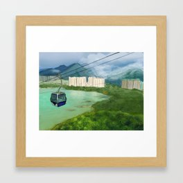 Cable Car in Hong Kong Framed Art Print