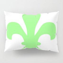 Fleur de Lis (Light Green & White) Pillow Sham