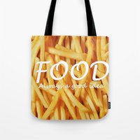 food Tote Bags featuring Food by The Fifth Motion