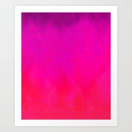 Fuchsia Fire Magenta Violet Ombre Art Print