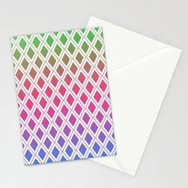 Rainbow Diamonds Stationery Cards