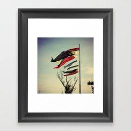 Fish Flags Framed Art Print