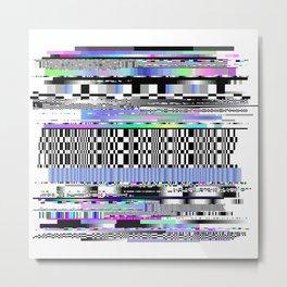 Glitch Ver.2 Metal Print