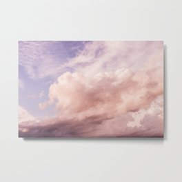 Perfect Pink Summer Sky Nature Photography Metal Print