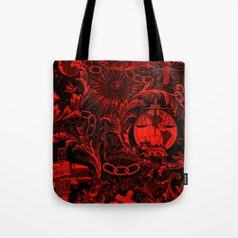 Red and Black IOOF  Woven Symbolism Tapestry Tote Bag