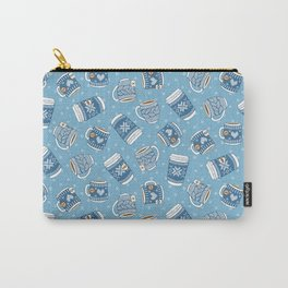 Cozy Blue Mugs Carry-All Pouch