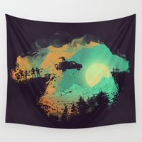 fly Wall Tapestries featuring Leap of Faith by Picomodi