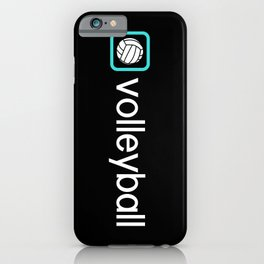 Volleyball (Blue) iPhone Case