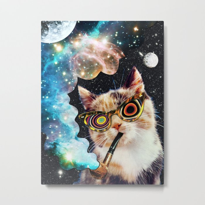 High Cat Metal Print