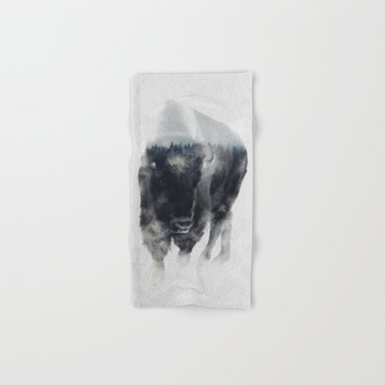 Bison In Mist Hand & Bath Towel