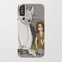 how to train your dragon iPhone & iPod Cases featuring How To Train Your Luck Dragon by Lacey Simpson