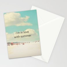 i'm in love with summer Stationery Cards