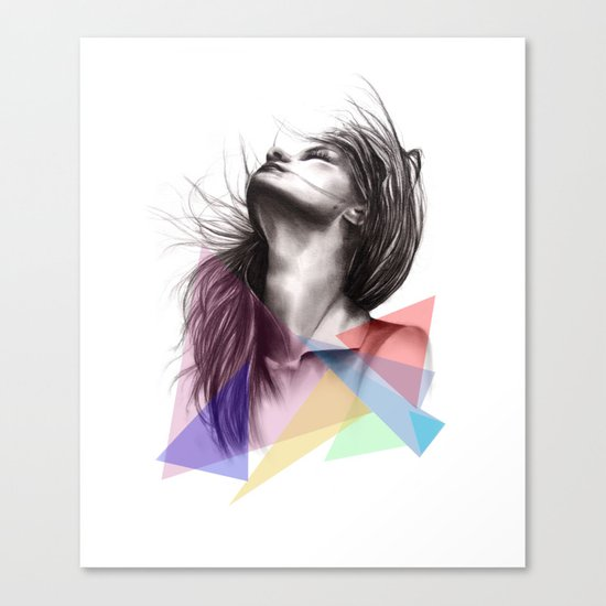 Crystalised // Fashion Illustration  Canvas Print