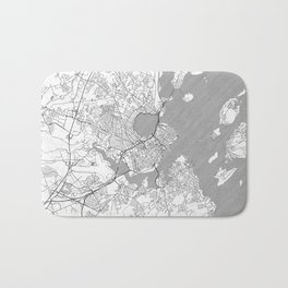 Portland Maine Map Line Bath Mat