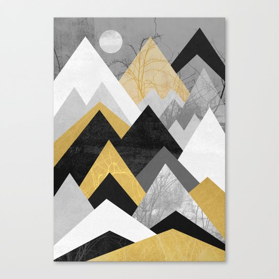 Golden mountains of the north Canvas Print
