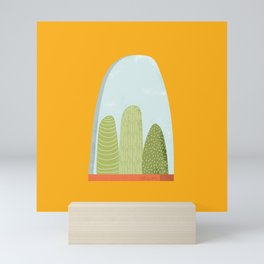 Plants Waiting Patiently On A Window Sill Mini Art Print