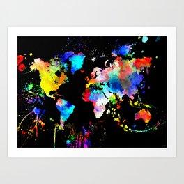 World Grunge Art Print
