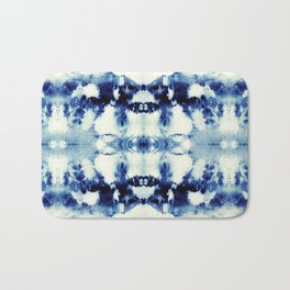Tie Dye Blues Bath Mat