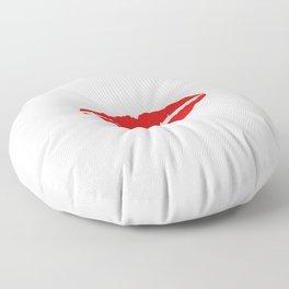 Red lips Floor Pillow