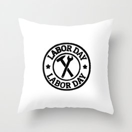 lets celebrate the hard work we are doin Throw Pillow
