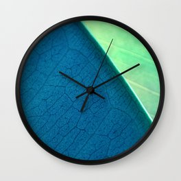 Contemporary Leaf Design, Version #1 Wall Clock