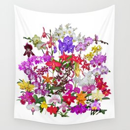 A celebration of orchids Wall Tapestry