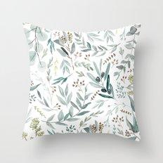 Eucalyptus pattern Throw Pillow
