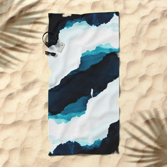Teal Isolation Beach Towel