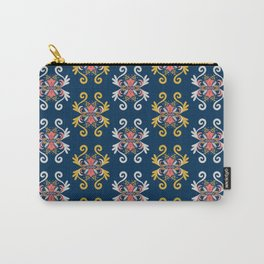 Damask Floral Pattern Carry-All Pouch