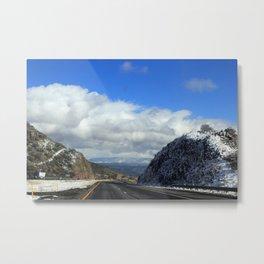 Snowy Drive Metal Print