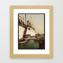 Boarding the Ship - vintage photograph Framed Art Print