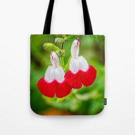 Hot Lips Flower Tote Bag