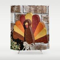 turkey Shower Curtains featuring Turkey Day by IowaShots