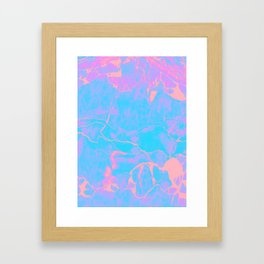 Pink and Blue Marble Framed Art Print