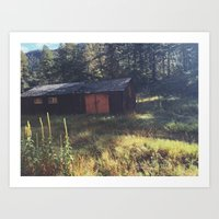 cabin Art Prints featuring Cabin by John Timmons