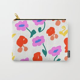 Dancing Flowers #Repeating #DigitalArt #Nature Carry-All Pouch