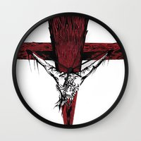 jesus Wall Clocks featuring Jesus by Robert Cooper