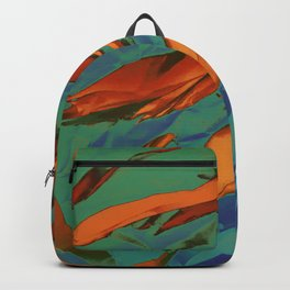 Green, Orange and Blue Abstract Backpack