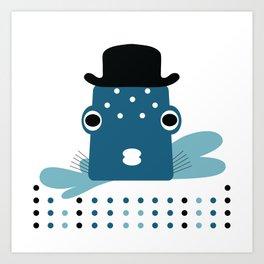 Top Hat Fish Art Print