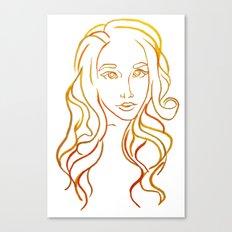Yellow Portrait Canvas Print