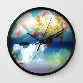 Fish Clouds Wall Clock