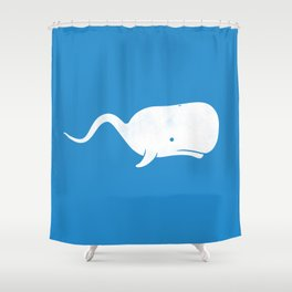 Sperm whale Shower Curtain