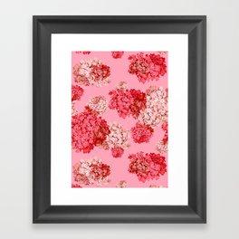 hydrangea (doubled) Framed Art Print